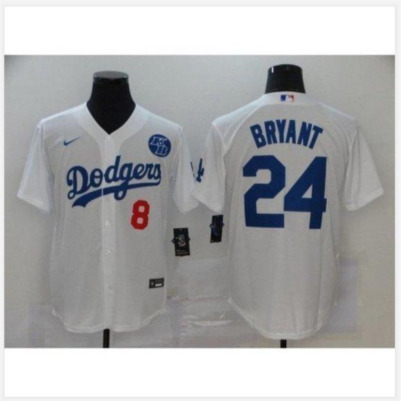 Shirts | La Dodgers Kobe Bryant Gray Baseball Jersey 8 24 | Poshmark